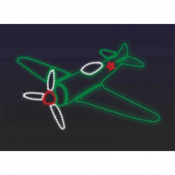 Светодиодное панно военный самолет, 800 х 1340 х 30 мм, 40 вт