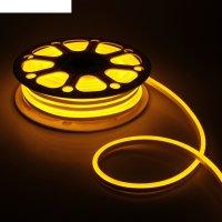 Гибкий неон 8 х 16 мм, 25 метров, led-120-smd2835, 220 v, желтый