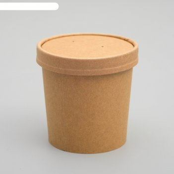 Супница крафт, 7 х 7 х 8,5 см, 0,34 л
