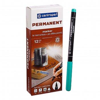Маркер centropen 2536 перманентный, 1.0 мм, зелёный, светостойкий