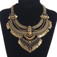 Колье эльфийское плетение, цвет черненое золото
