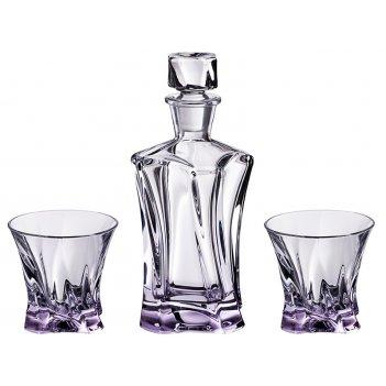 Набор для виски  cooper 3 пр.: штоф+2 стакана 400/230 мл. высота=24/9 см.