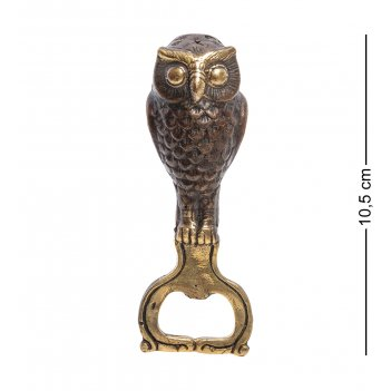24-114-02 открывалка сова бронза (о.бали)