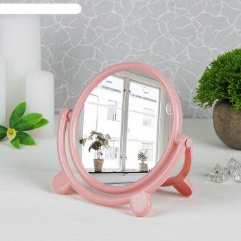 Зеркало настольное нежность, с рамкой под фотографию, круглое, d=15,5см, б