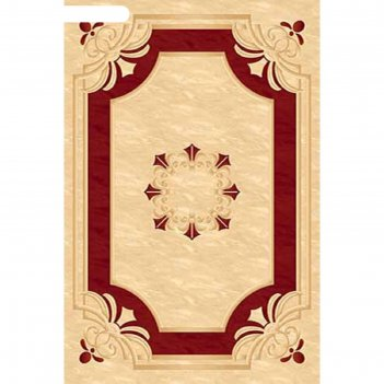 Ковёр карвинг хит-сет kamea 5333, 3*4 м, прямоугольный, cream-red