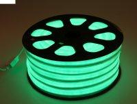 Гибкий неон, 12*24мм, 20 м, led/м-80-220v, зеленый