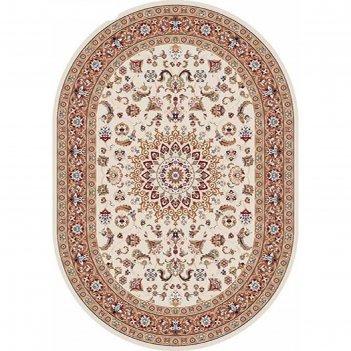 Овальный ковёр shahreza d210, 200 х 500 см, цвет cream-terra