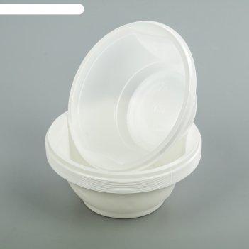 Набор тарелок суповых одноразовых 600 мл, 12 шт., белый