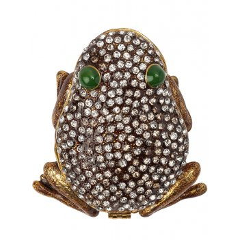 Шкатулка лягушка s-4029-1 коричневый