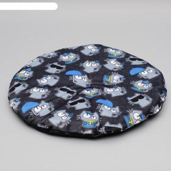 Коврик-лежанка легкий дизайн круглый, 50х50 см, микс цветов