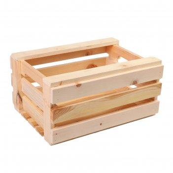 Ящик для овощей и фруктов, 40 x 30 x 20 см, деревянный