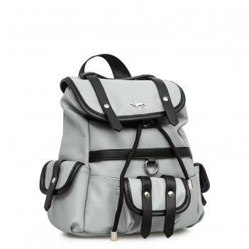 Рюкзак, отдел на магните, цвет серый