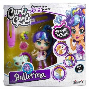 Кукла «кёрли гёрлс. балерина росли со щенком коди»