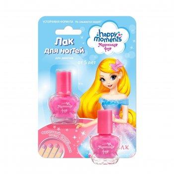 Лак для ногтей маленькая фея устойчивая формула, розовый шелк, 6 мл