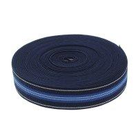 Резинка, ширина 35мм, 10м, цвет синий с полосками