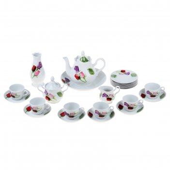 Сервиз чайный 23 предмета королева цветов