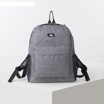 Рюкзак школьн рм-08, 31*12*40, отд на молнии, н/карман, 2 бок сетки, серый
