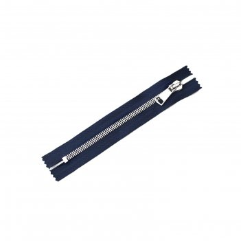 Молния zzd, №8ст, металлическая, неразъёмная, 18см, цвет синий