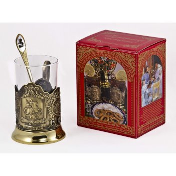 Набор для чая россия (3 пр.) арт. пд-77шкс (георгий)-л