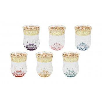Набор: 6 стопок для водки цветная флоренция
