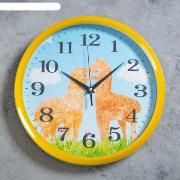 Часы настенные, серия: детские, окальи, d=30 см