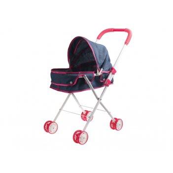 1toy коляска-люлька для куклы красотка-джинс,метал.рама,собр.62*27*67см,па