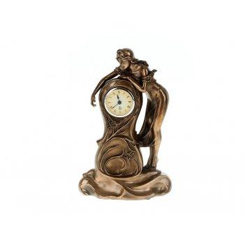 Часы настольные юная дева 20*9,5*32см. (часы-d=6,5см., батарей