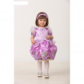 Карнавальный костюм софия прекрасная, текстиль, платье, повязка, р-р 28, р