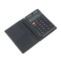 Калькулятор карманный lc 8разряд, пит.от батарейки, 62*98*11 мм, черный lc