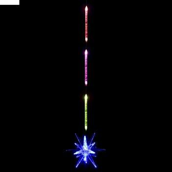 Игрушка светящаяся подвесная звезда 8х8см на 3 трубках