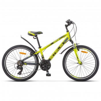 Велосипед 24 stels navigator-440 v, k010, цвет лайм, размер 12