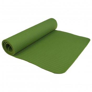 Коврик для йоги 183 x 61 x 0,6 см, цвет зелёный