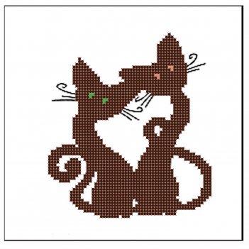 Милые котята рисунок для вышивания бисером