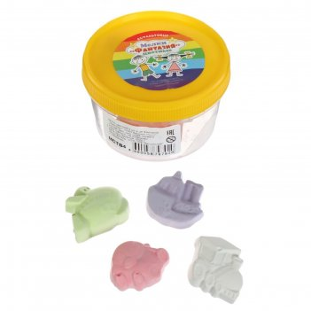 Мелки цветные для асфальта (фигурные) 4 штуки 4цв фантазия транспорт пласт