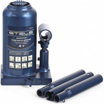 Домкрат гидравлический бутылочный телескопический, 4 т, h подъема 170-420