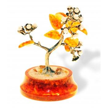 Сувенир цветущая сакура из янтаря