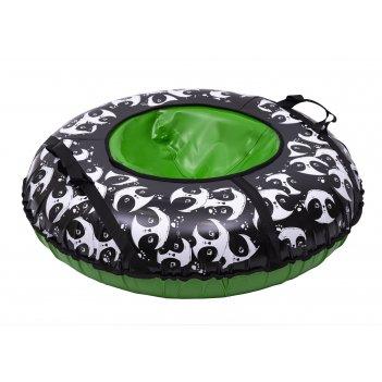 Санки надувные тюбинг panda автокамера, диаметр 100 см