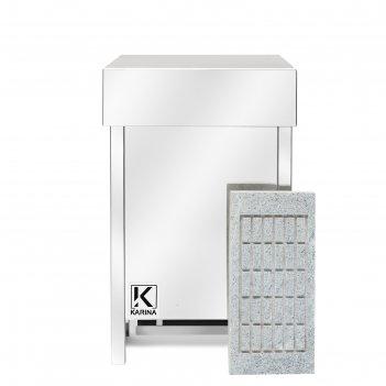 Электрическая печь karina eco 8, нержавеющая сталь, камень талькохлорит