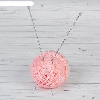 Спицы для вязания, прямые, d = 3,5 мм, 35 см, 2 шт