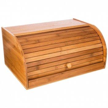 Хлебница  agness с выдвижной разделочной доской  40*27*16,5см бамбук