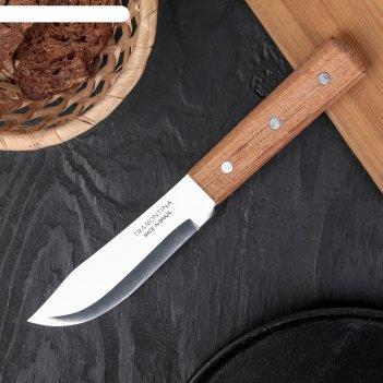 Нож для мяса tramontina universal, лезвие 12,5 см, сталь aisi 420, деревян