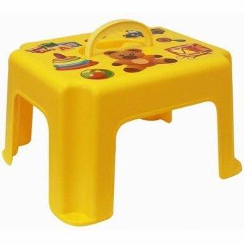 Табурет-подставка с ручкой 2290 желтый