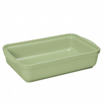 Блюдо прямоугольное 32х23 см, цвет зеленый, серия chef, terr