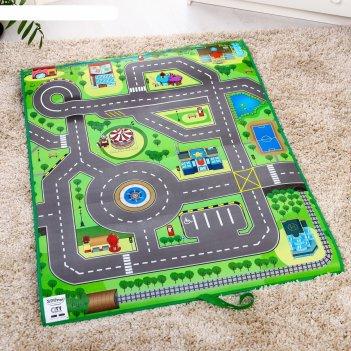 Игровой развивающий коврик «твой город 3d»