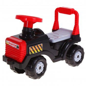 Машинка детская трактор чёрный м4944