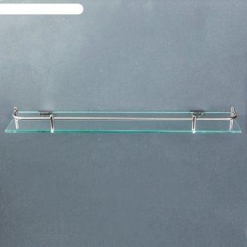 Полка для ванной комнаты 40x11.5x4 см, металл, стекло