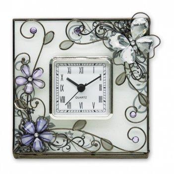 Hs-20340d часы стеклянная бабочка  jardin d ete
