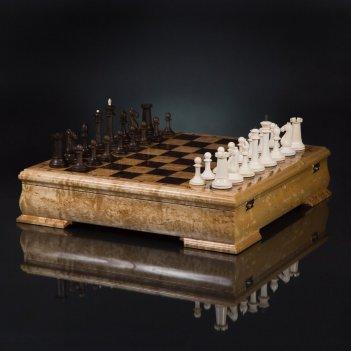 Шахматы стаунтон элегант из бивня мамонта kadun 45см