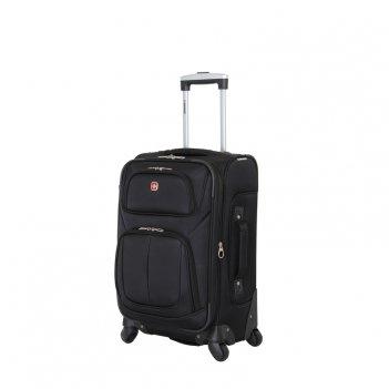Чемодан wenger sion, чёрный, полиэстер 750x750d добби, 37x22x60 см, 35 л