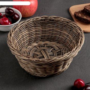 Корзинка для фруктов и хлеба сеновал 20х20х8 см